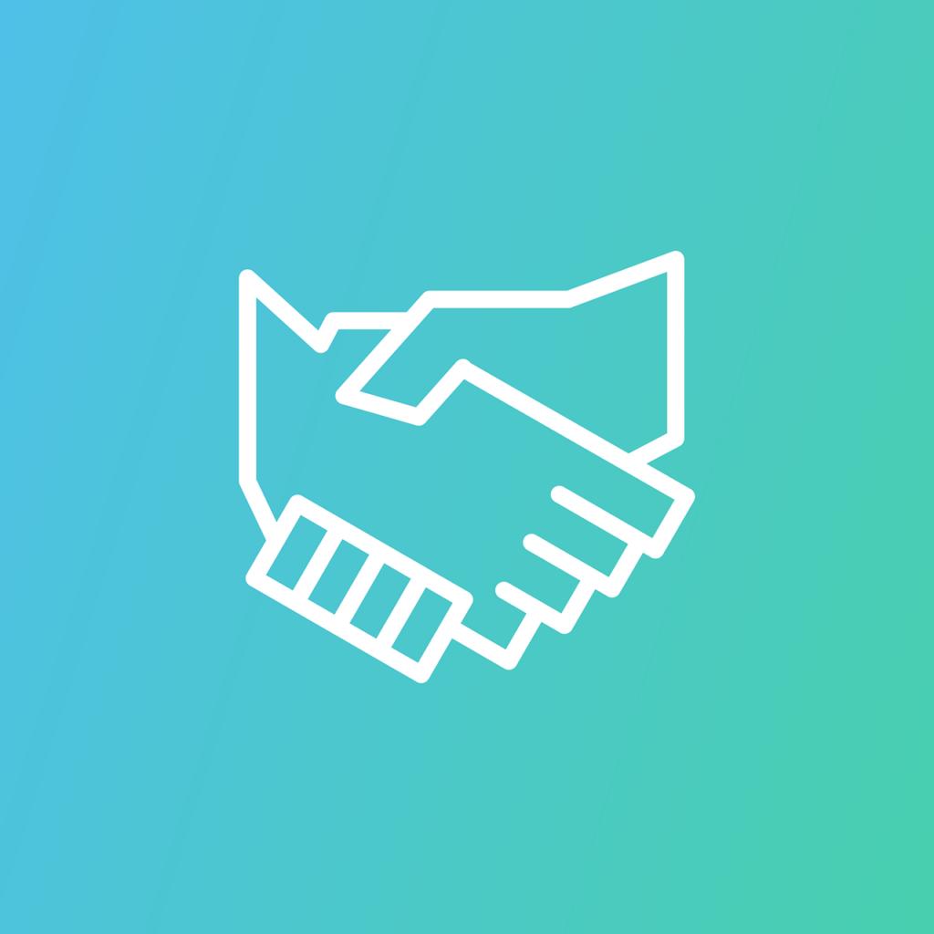 Ett handslag som symbol för engagemang