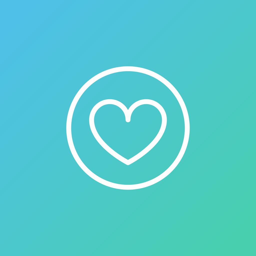 Ett hjärta som symbol för frisknärvaro och välmående
